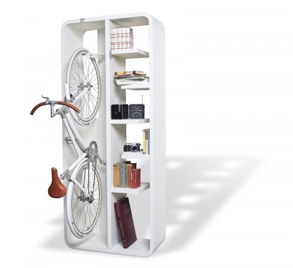 Етажерка за велосипед и книги