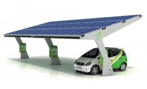 соларно зарядно на паркинг за електромобили